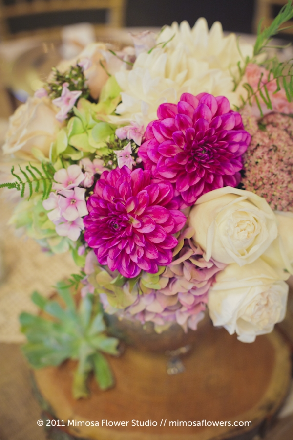Modern Vintage Wedding Flowers Centrepieces - 8