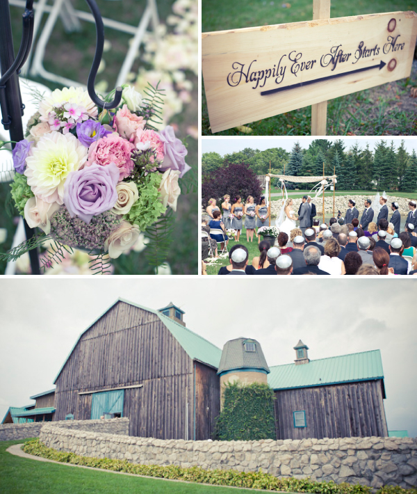 Outdoor Wedding Ceremony at Hernder Estate Winery