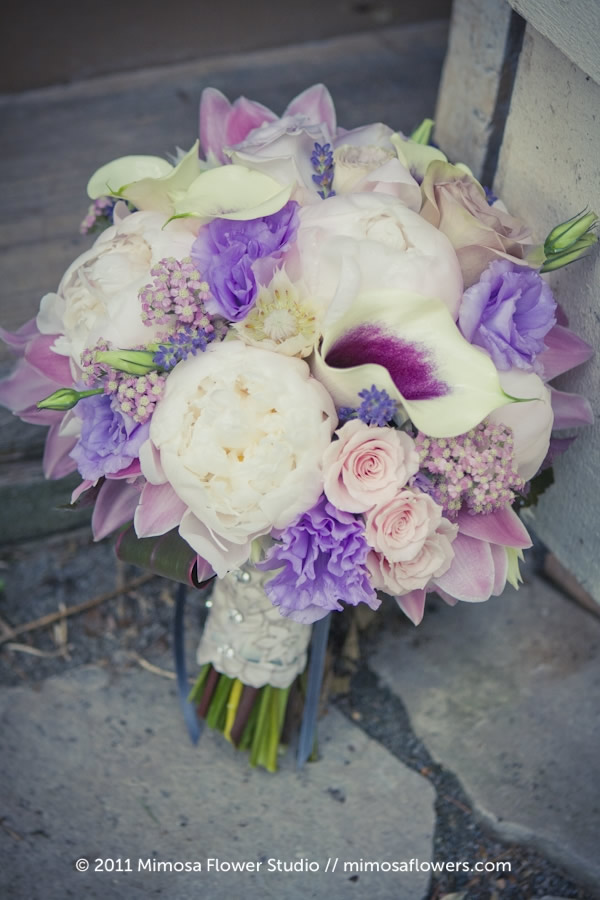 Mimosa Flower Studio - Breeze /  Purple Bride's Bouquet 1