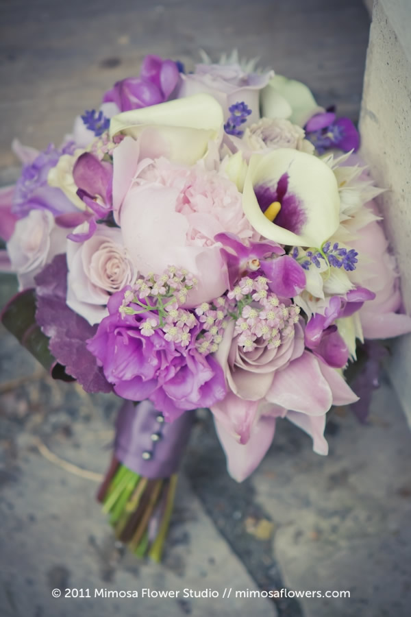 Mimosa Flower Studio - Breeze /  Purple Bride's Bouquet 3