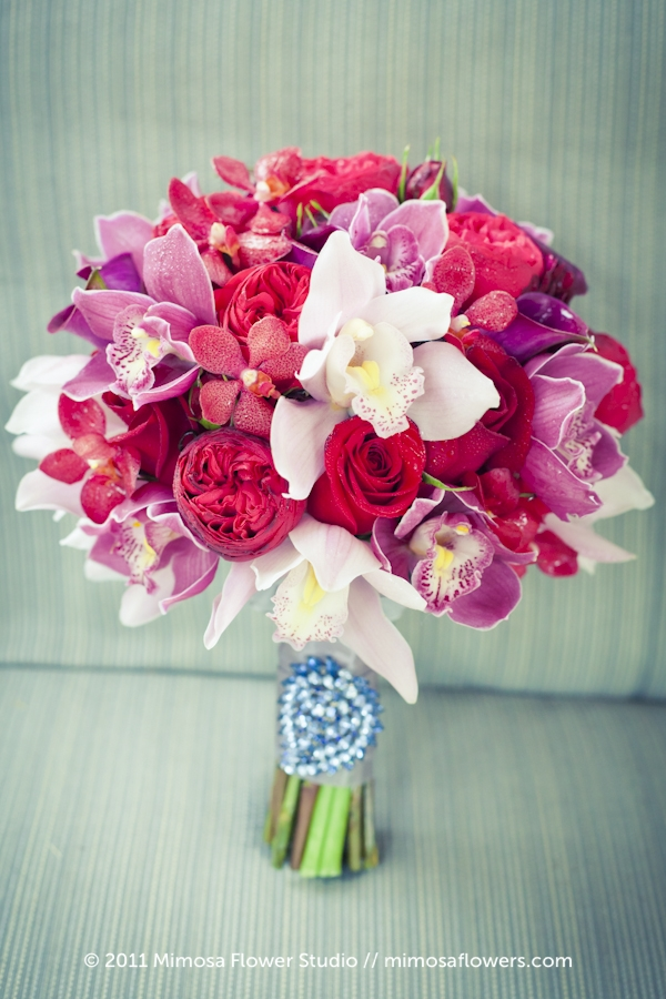 Red, crimson and merlot Bride's Bouquet at Pillar and Post - 1