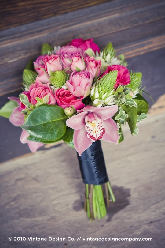 Vintage Design Co. // Niagara-on-the-Lake Wedding Florist // Bridesmaid Bouquet