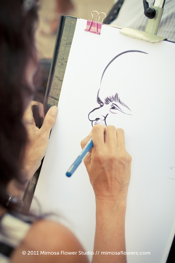 Caricature Artist at Wedding Reception 2