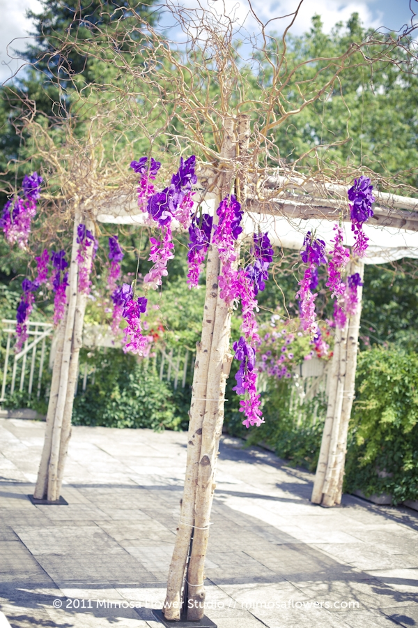 Curly Willow and Birch Wedding Chuppah at King Valley Golf Club