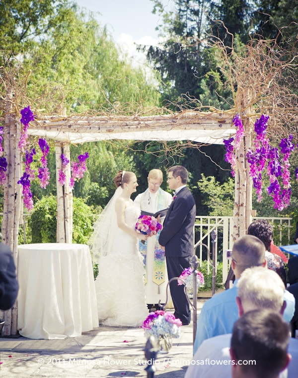 Outdoor Wedding Ceremony with Chuppah at King City Golf and Country Club