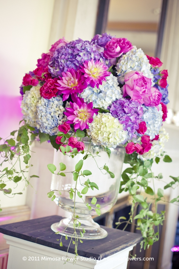 King Valley Golf Club - Wedding Reception Flowers in Pink and Purple 5