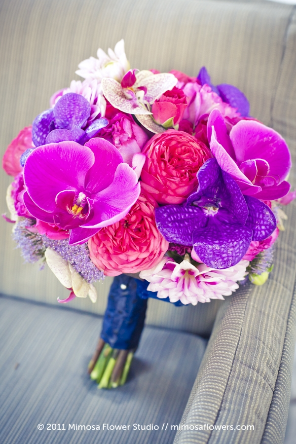 Pink and Purple Brides Bouquet