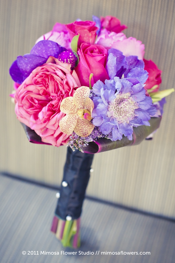 Pink and Purple Bridesmaid's Bouquet 2