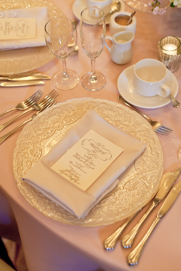 Queen's Landing Wedding - Imperial Ballroom Reception Place Setting