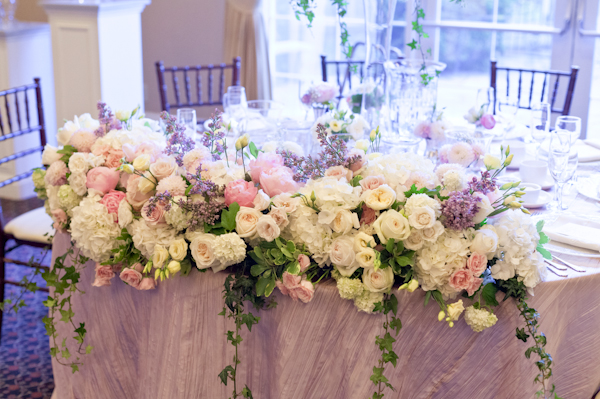 Queen's Landing Wedding - Imperial Ballroom Reception Head Table Flowers