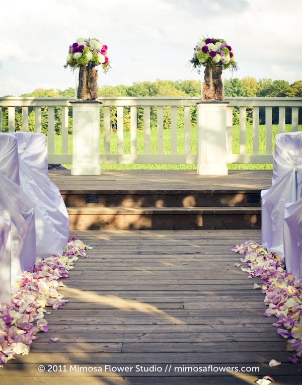 Outdoor Wedding Ceremony - Altar Flowers at Vineland Estates Winery - 2