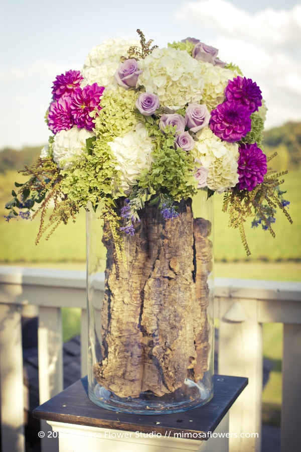 Outdoor Wedding Ceremony - Altar Flowers at Vineland Estates Winery