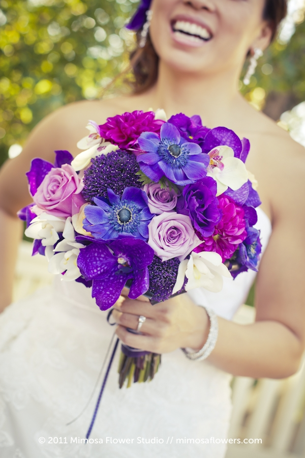 Purples Bride's Bouquet - 2