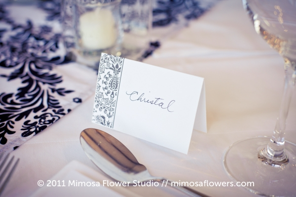 Vineland Estates Winery - Wedding Placecard