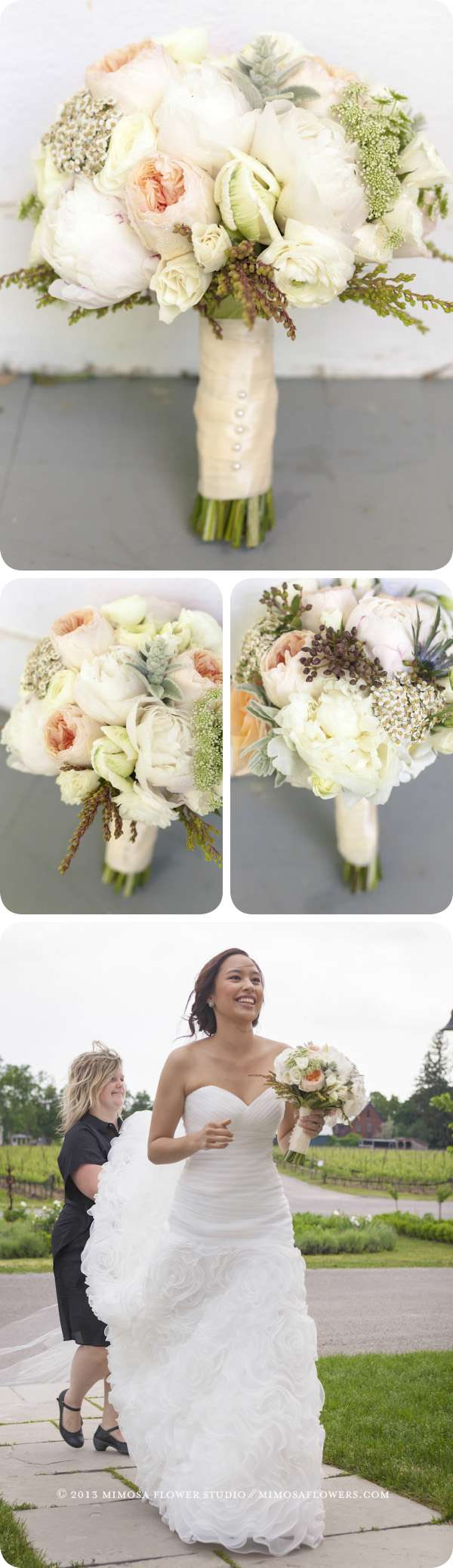 Bride's Bouquet at Ravine Vineyard - Outdoor Wedding Ceremony in Niagara on the Lake