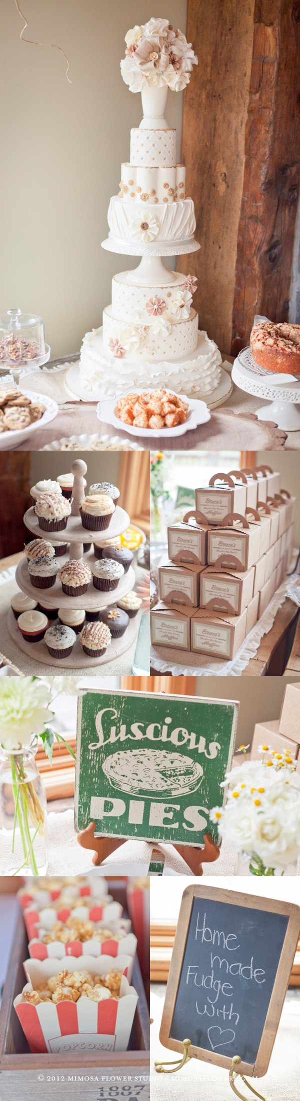 Wedding Reception at Knollwood Golf Course - Sweets Table