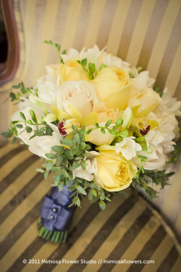 Mimosa Flower Studio - Glow / Yellow Bride's Bouquet 1