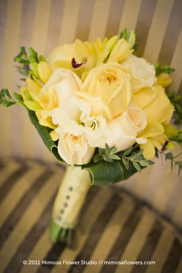 Mimosa Flower Studio - Glow / Yellow Bride's Bouquet 2