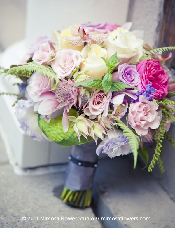 Bridal Bouquet in Muted Tones