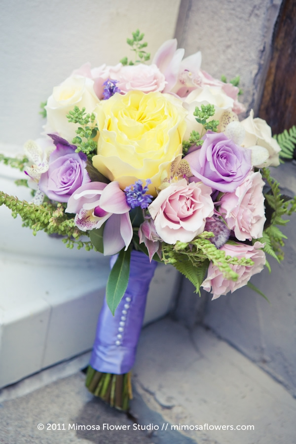 Bridesmaid's Bouquet in Muted Tones
