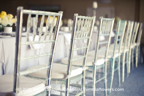 Lucite Chiavari Chairs at Burlington Golf and Country Club