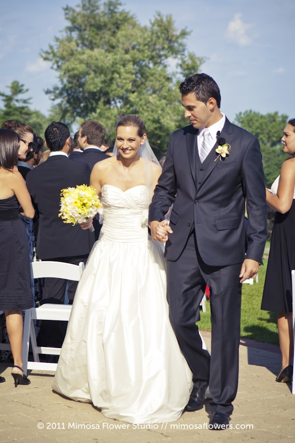 Outdoor Wedding Ceremony at Burlington Golf and Country Club - 3