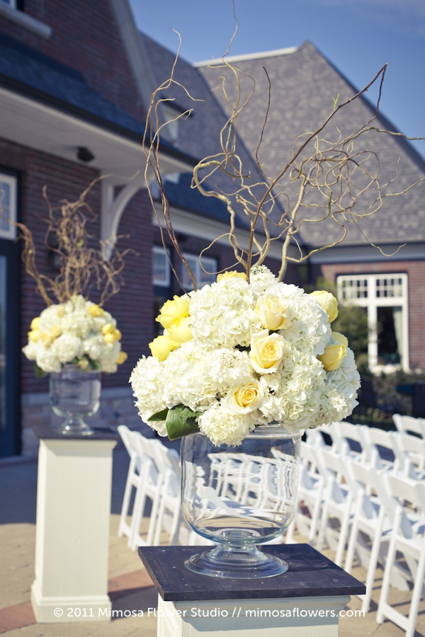 Outdoor Wedding Ceremony at Burlington Golf and Country Club - 2
