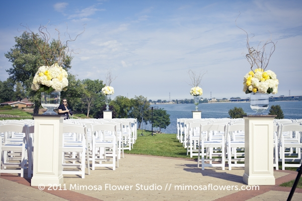 Outdoor Wedding Ceremony at Burlington Golf and Country Club - 1
