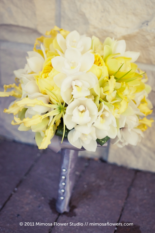 Yellow and White Bride's Bouquet