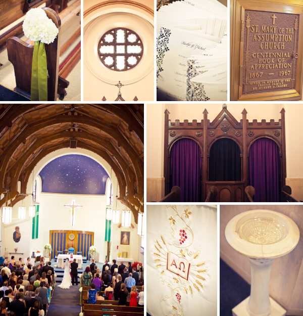 Saint Mary of the Assumption Church Wedding Ceremony Collage