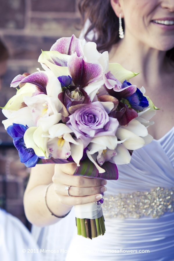 Purple bride's bouquet