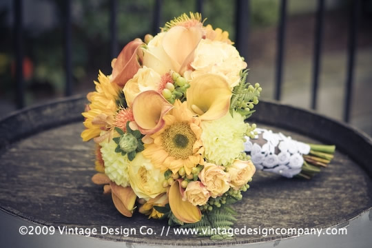 Vintage Design Co. // Niagara-on-the-Lake Wedding Flowers // Bride's Bouquet