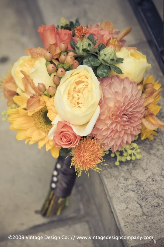 Vintage Design Co. // Niagara-on-the-Lake Wedding Flowers // Bridesmaid's Bouquet