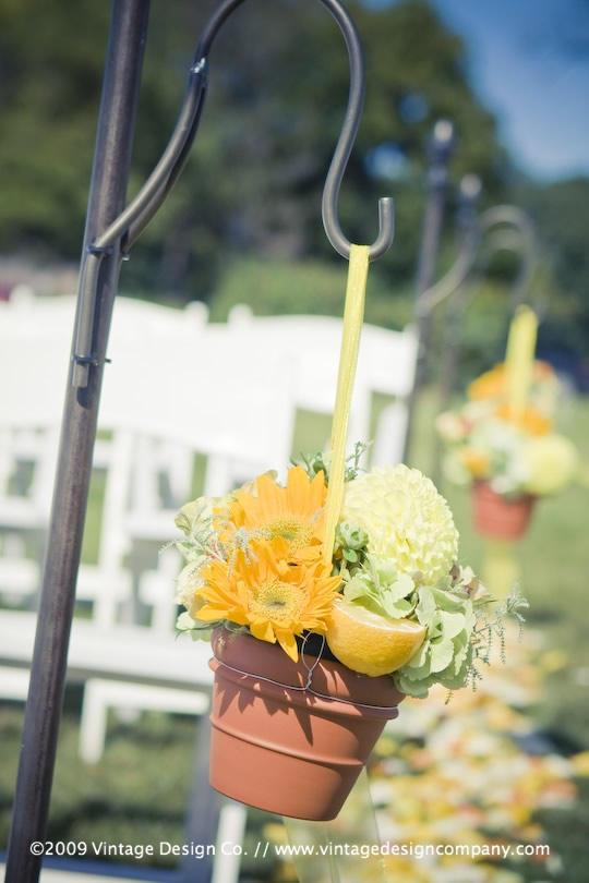 Vintage Design Co. // Niagara-on-the-Lake Wedding Flowers // Shepherd's Hooks