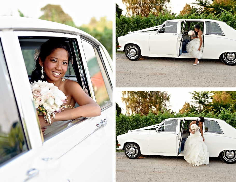 Bride in white Rolls Royce for Wedding 2
