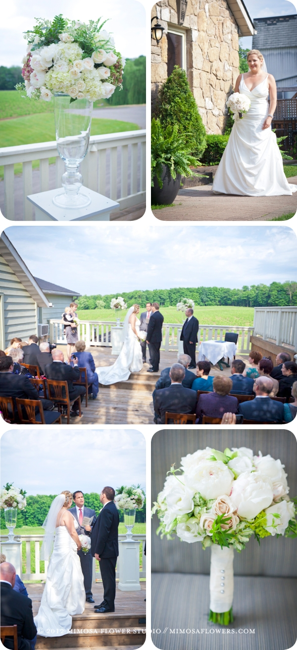 Vineland Estates Winery - Outdoor Wedding Ceremony on the Deck overlooking the vineyards