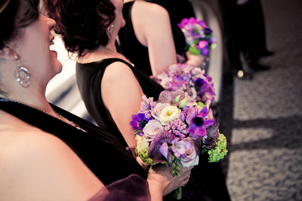 Purple Bridesmaid's Bouquets