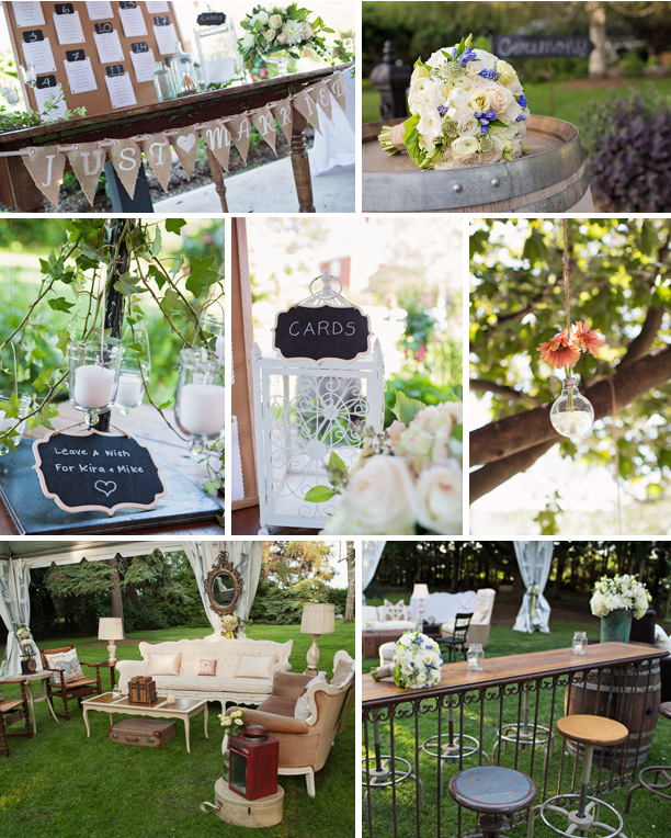 Kira + Mike - Honsberger Estate Outdoor Wedding - Lounge Area
