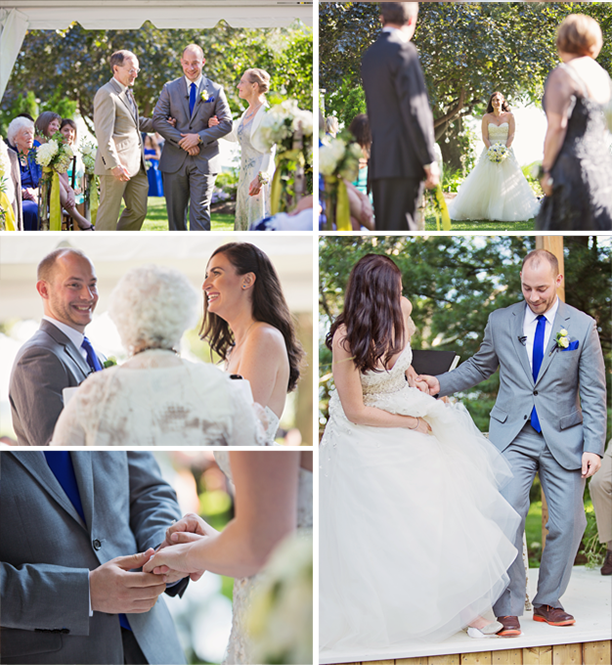 Kira + Mike - Honsberger Estate Wedding Ceremony - Outdoor