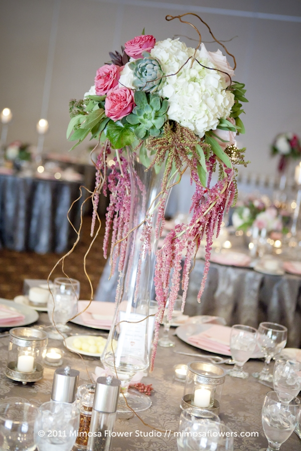 Wedding Reception Centrepiece - Tall