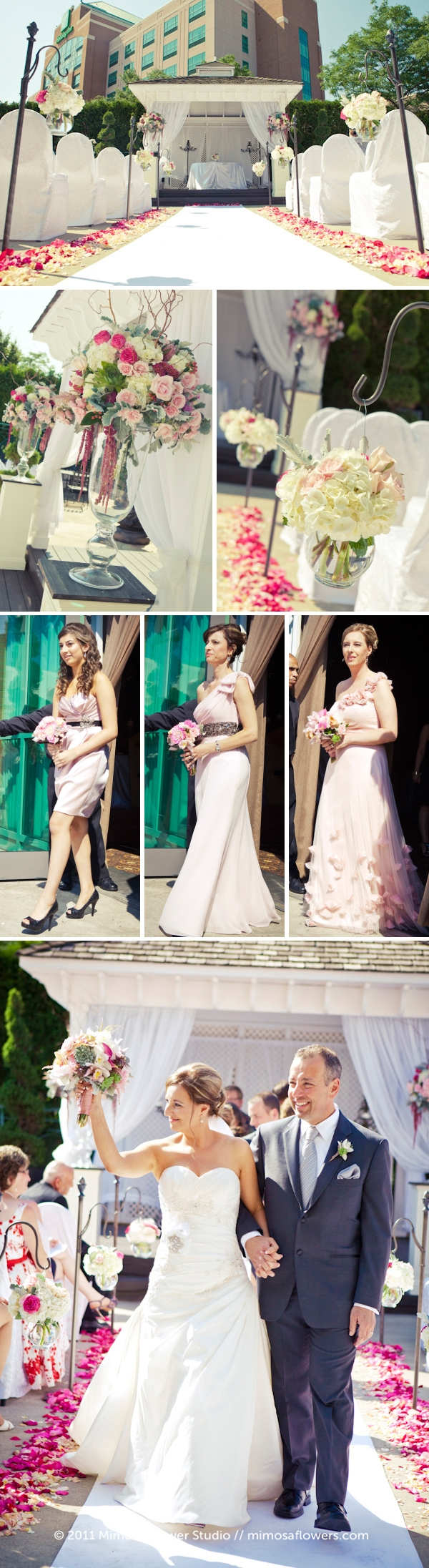 Outdoor Wedding Ceremony Flowers Collage