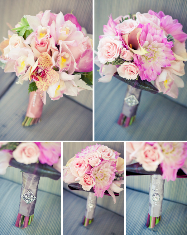 Bridesmaids Bouquets in Pink Collage