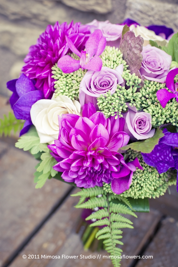 Purple Bride's Bouquet 2