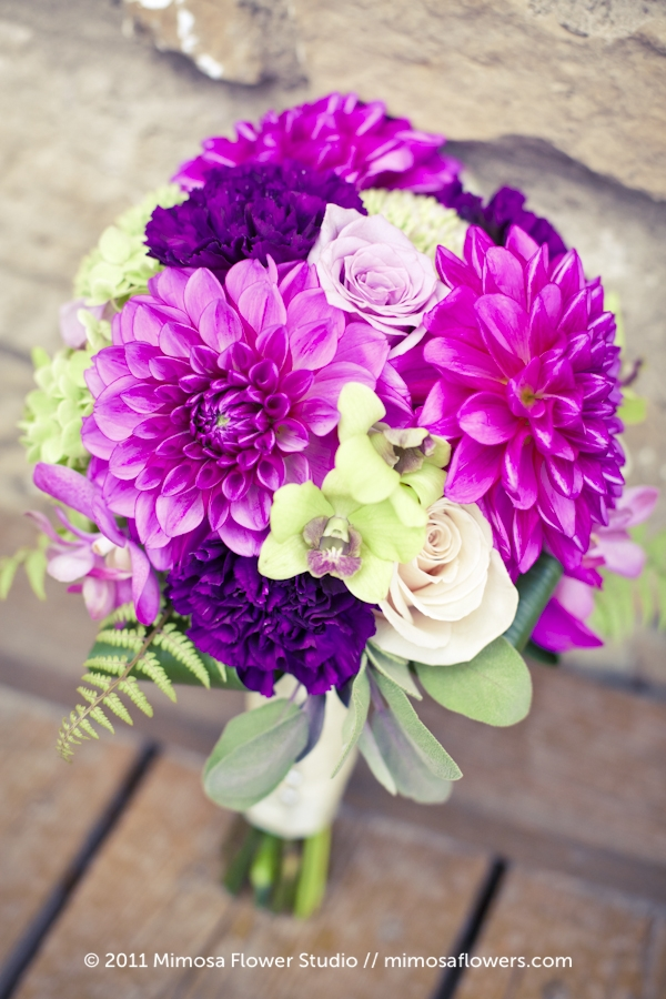 Purple Bridesmaid's Bouquet