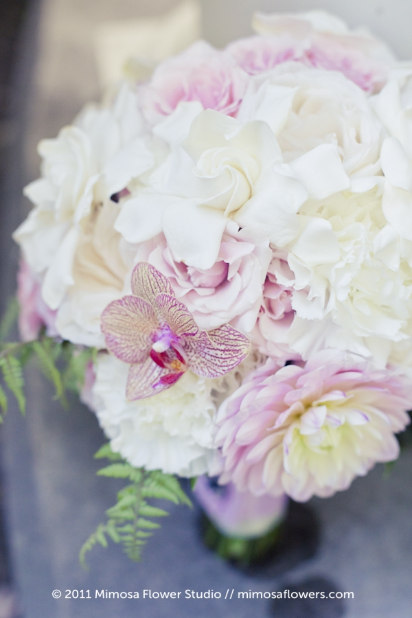 Soft Pink Bride's Bouquet at Queen's Landing