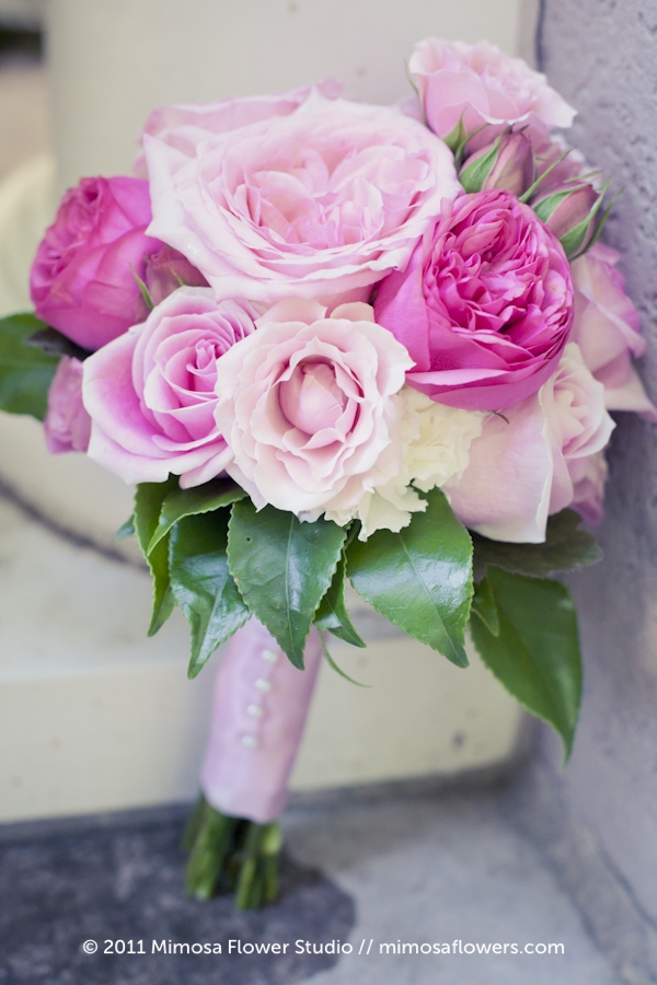 Soft Pink Bride's Bouquet at Queen's Landing 2