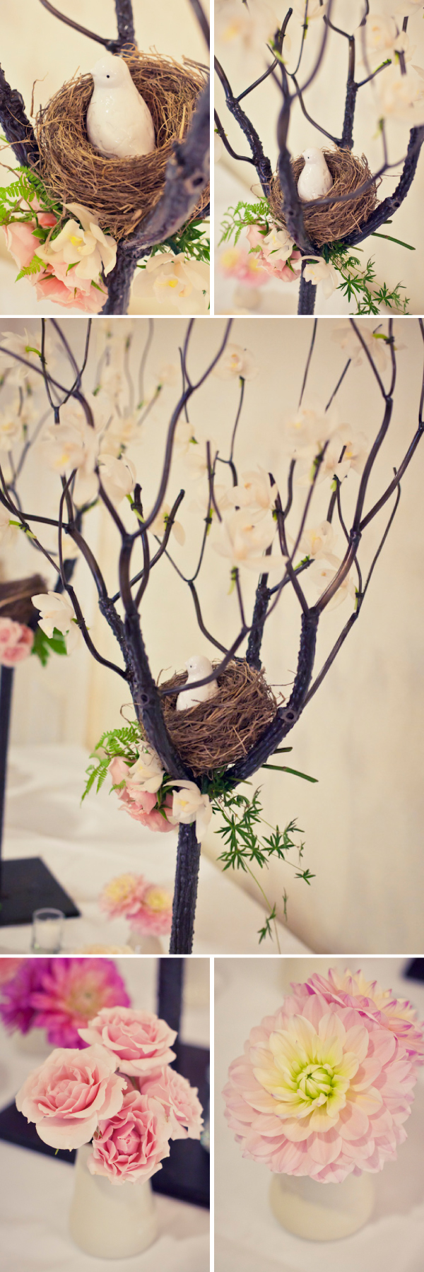 Bird's Nest Receiving Table at Queen's Landing Imperial Ballroom