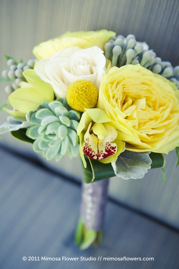 Yellow and Green Bridesmaid's Bouquet 2