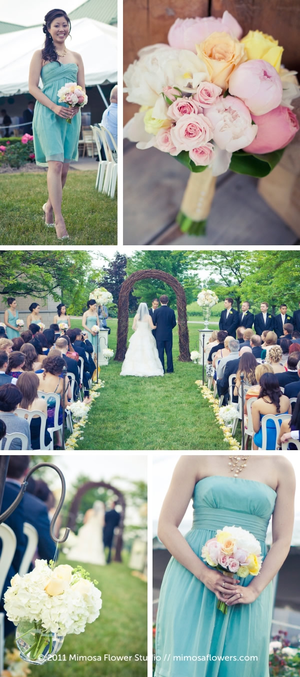 Outdoor Wedding Ceremony at Chateau des Charmes Winery