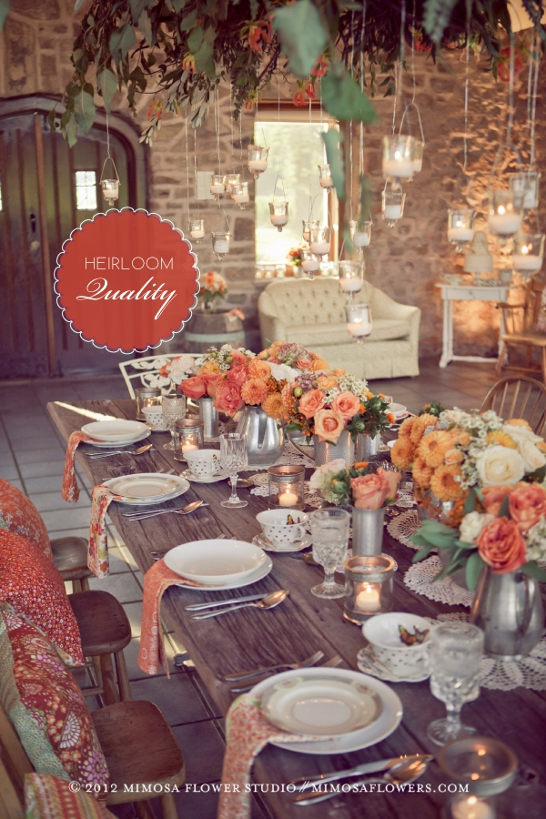 Made with Love - Tablescape in The Carriage House at Vineland Estates Winery